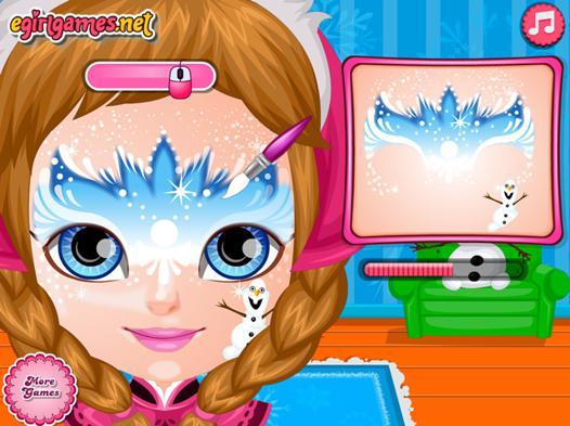 jeu de maquillage reine des neiges