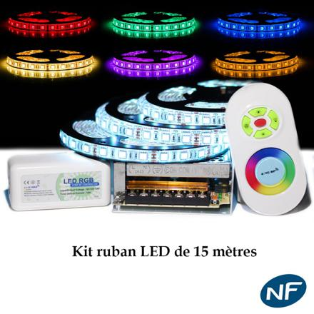 kit ruban led multicolore telecommande