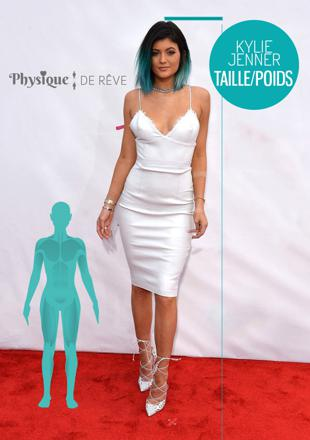 kylie jenner taille