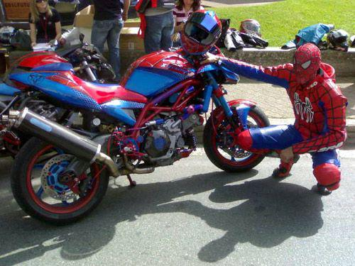 la moto de spiderman