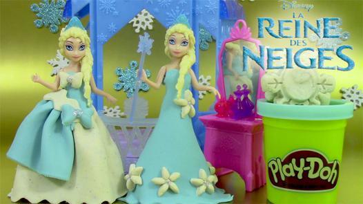 la reine des neiges pate a modeler