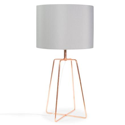 lampe de chevet rose gold