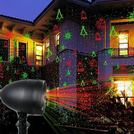 laser de noel extérieur