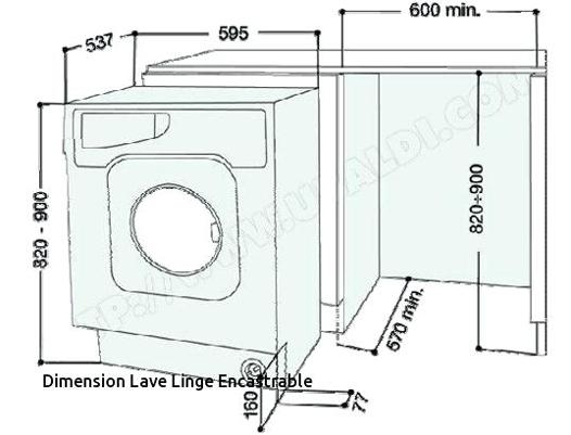 lave linge dimension
