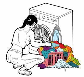 laver le linge dessin
