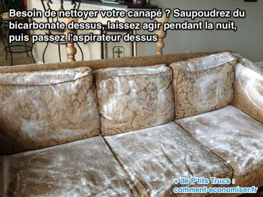 laver un canapé