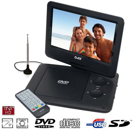 lecteur dvd portable tv tnt