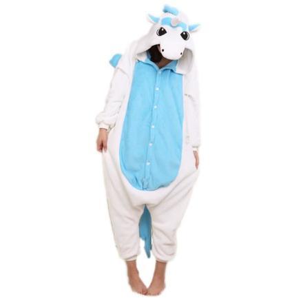 licorne pyjama bleu
