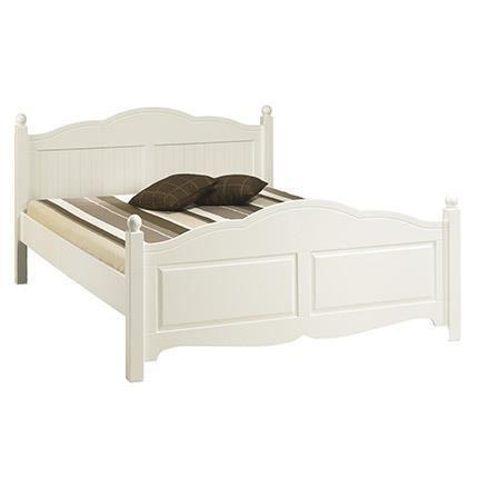lit bois blanc 2 personnes