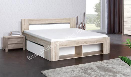 lit en 160 avec rangement