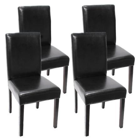 lot 4 chaises noires