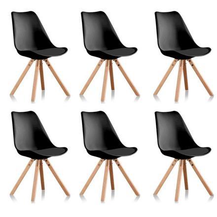 lot 6 chaises noires