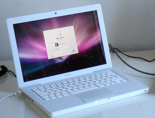 mac book blanc