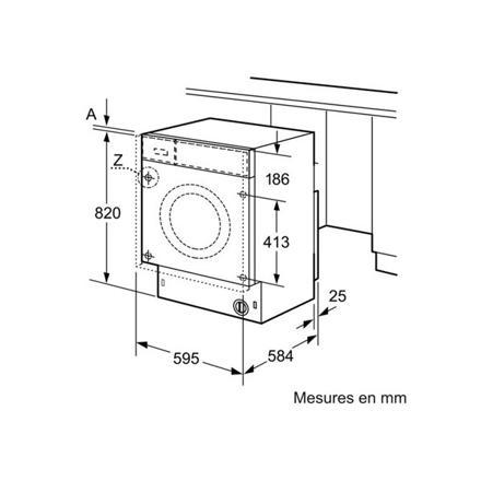 machine a laver dimension standard