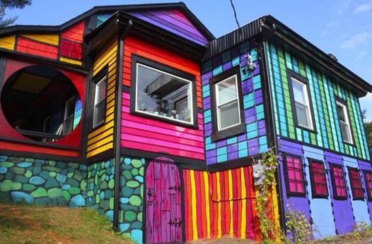 maison multicolore