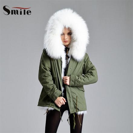 manteau grosse capuche fourrure