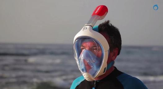 masque et tuba intégré