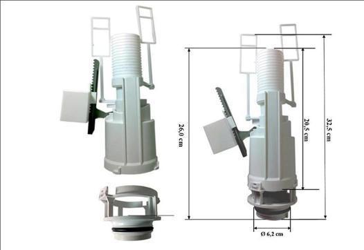 mecanisme chasse d'eau siamp wc suspendu