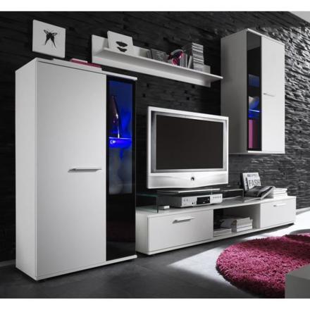 meuble tv mural led