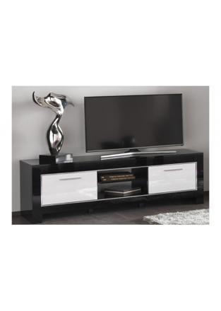 meuble tv noir et blanc