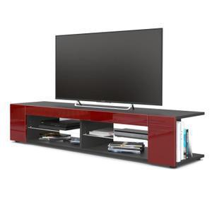 meuble tv rouge et noir