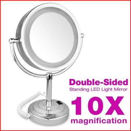 miroir grossissant x10 lumineux