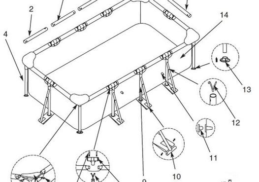 montage piscine tubulaire rectangulaire intex