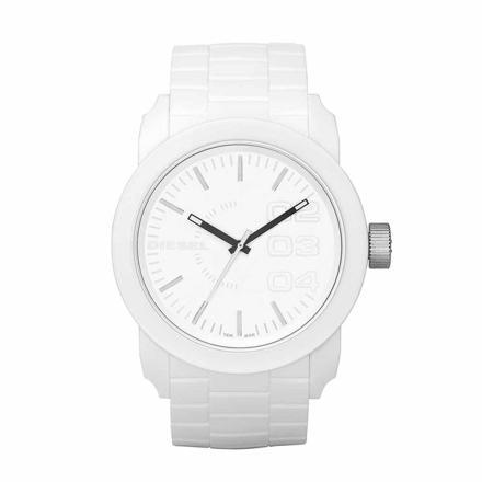 montre blanche diesel homme