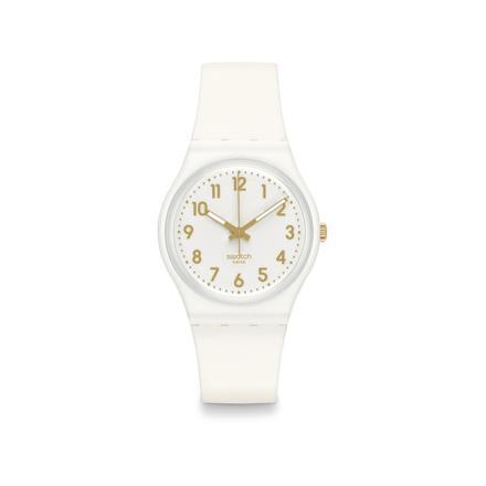 montre blanche femme swatch