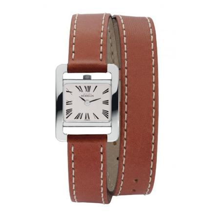 montre bracelet double cuir femme