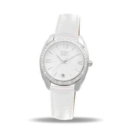 montre cuir blanc femme