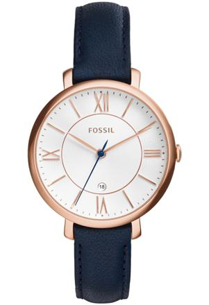 montre fossil bleu et rose