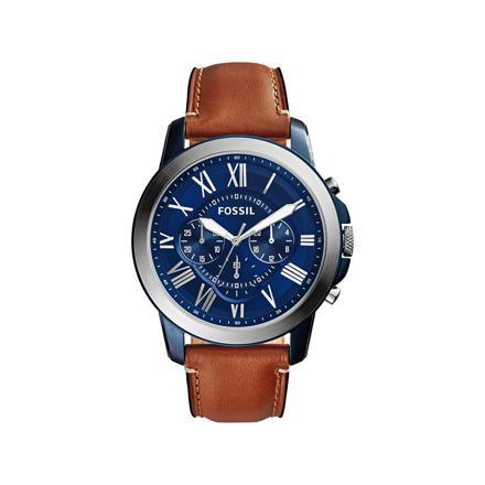 montre fossil bracelet cuir marron