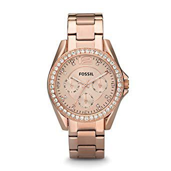 montre fossil femme doré