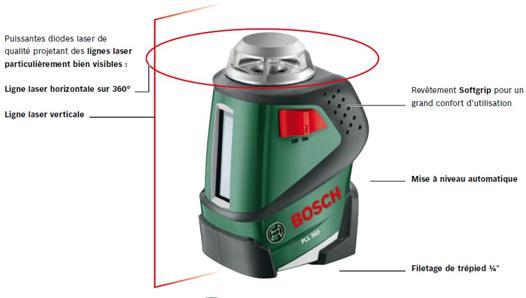 niveau laser pll 360 bosch