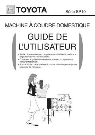 notice machine à coudre