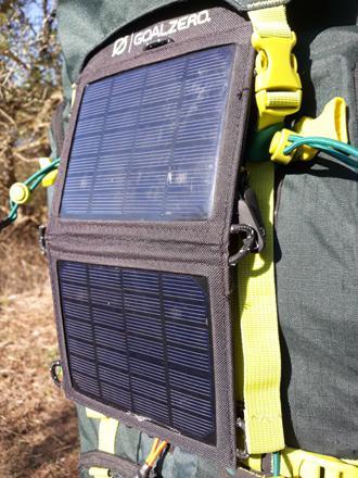 panneau solaire randonnée
