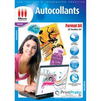 papier autocollant a4 pour imprimante