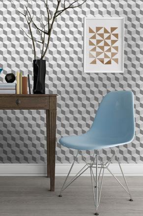papier peint cube