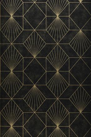 papier peint noir et doré