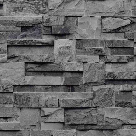 papier peint pierre grise