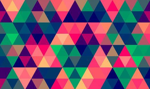 papier peint triangle multicolore