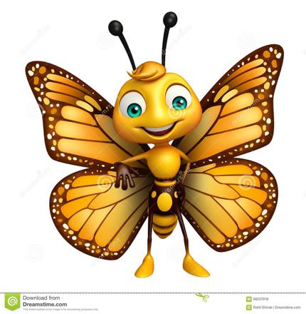 papillon dessin animé
