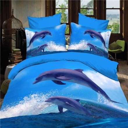 parure de lit dauphin 2 personnes