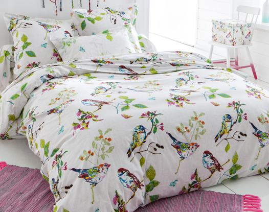 parure de lit oiseaux