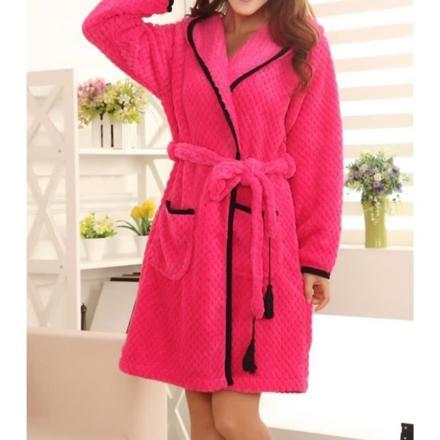 peignoir rose femme