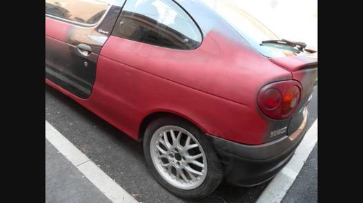 peinture voiture bombe