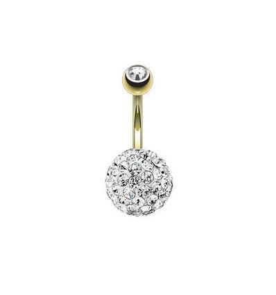 piercing nombril cristal