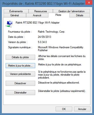 pilote carte wifi windows 8