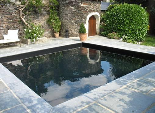 piscine coque gris anthracite